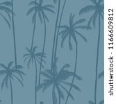 palm trees vector seamless... | Shutterstock .eps vector #1166609812