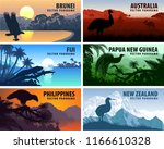 vector panorama of philippines  ... | Shutterstock .eps vector #1166610328