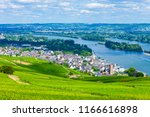 vineyards  rudesheim am rhein... | Shutterstock . vector #1166616898
