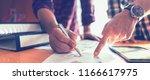 brainstorm partnership of... | Shutterstock . vector #1166617975