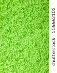 Green towel macro texture background - stock photo