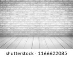 white and gray wood floor with... | Shutterstock . vector #1166622085