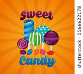 sweet candy concept | Shutterstock .eps vector #1166622178