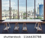 empty table in the room office... | Shutterstock . vector #1166630788