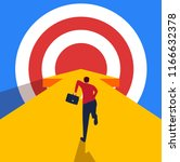 businessman running towards the ...   Shutterstock .eps vector #1166632378