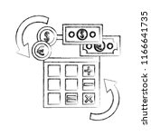 foreign exchange calculator... | Shutterstock .eps vector #1166641735