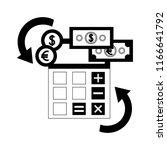 foreign exchange calculator... | Shutterstock .eps vector #1166641792