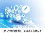medical health care technology... | Shutterstock .eps vector #1166642575