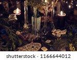 still life with alchemy ritual... | Shutterstock . vector #1166644012