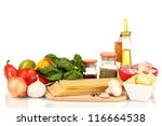 lasagna ingredients isolated on ... | Shutterstock . vector #116664538