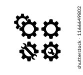 gears web icons for settings ... | Shutterstock .eps vector #1166649802