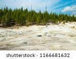 an extinct geyser cone in...   Shutterstock . vector #1166681632