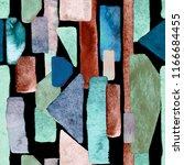bauhaus pattern. indigo blue... | Shutterstock . vector #1166684455