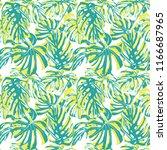 tropical print. jungle seamless ...   Shutterstock .eps vector #1166687965