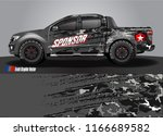 truck wrap design vector.... | Shutterstock .eps vector #1166689582