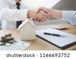real estate broker agent and...   Shutterstock . vector #1166693752