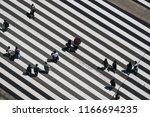 aerial view of people crossing...   Shutterstock . vector #1166694235