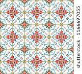 talavera pattern.  azulejos... | Shutterstock .eps vector #1166697055