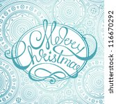 vector christmas new year card... | Shutterstock .eps vector #116670292