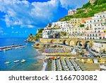 atrani  italy   september 17 ... | Shutterstock . vector #1166703082