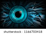 binary circuit board future... | Shutterstock .eps vector #1166703418