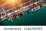 logistics and transportation of ... | Shutterstock . vector #1166706592