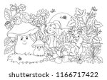 vector illustration zentangle.... | Shutterstock .eps vector #1166717422