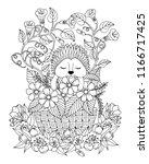vector illustration zentangle.... | Shutterstock .eps vector #1166717425