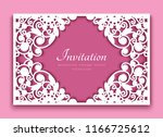 rectangle frame with cutout... | Shutterstock .eps vector #1166725612