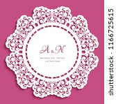round lace doily with cutout...   Shutterstock .eps vector #1166725615