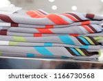 colorful shirts for sale in...   Shutterstock . vector #1166730568