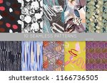 collection of seamless patterns.... | Shutterstock .eps vector #1166736505