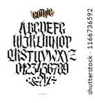 full alphabet in the gothic... | Shutterstock .eps vector #1166736592