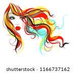 vector stylish original hand... | Shutterstock .eps vector #1166737162