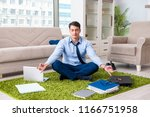 businessman taking work home... | Shutterstock . vector #1166751958