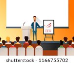 business seminar speaker doing... | Shutterstock .eps vector #1166755702