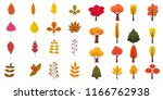 set of cute colorful autumn... | Shutterstock .eps vector #1166762938