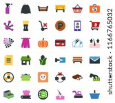 colored vector icon set   ribs... | Shutterstock .eps vector #1166765032