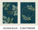 wedding card template with... | Shutterstock .eps vector #1166768668