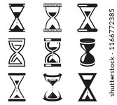 hourglass icons set various...   Shutterstock .eps vector #1166772385