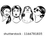 vector set of hand drawn...   Shutterstock .eps vector #1166781835