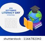literacy day book international ... | Shutterstock . vector #1166782342