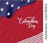 happy columbus day poster ... | Shutterstock .eps vector #1166785822