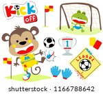 vector set of funny animals... | Shutterstock .eps vector #1166788642