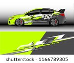 car decal wrap design vector.... | Shutterstock .eps vector #1166789305