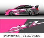 car decal wrap design vector....   Shutterstock .eps vector #1166789308