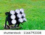 close up of led spotlights in... | Shutterstock . vector #1166792338