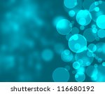 Abstract blue lights - stock photo