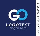 go initial letter logo vector   Shutterstock .eps vector #1166803012