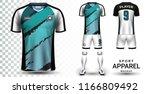 soccer jersey and football kit... | Shutterstock .eps vector #1166809492